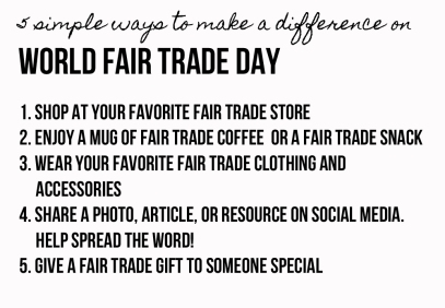 World Fair Trade Day List