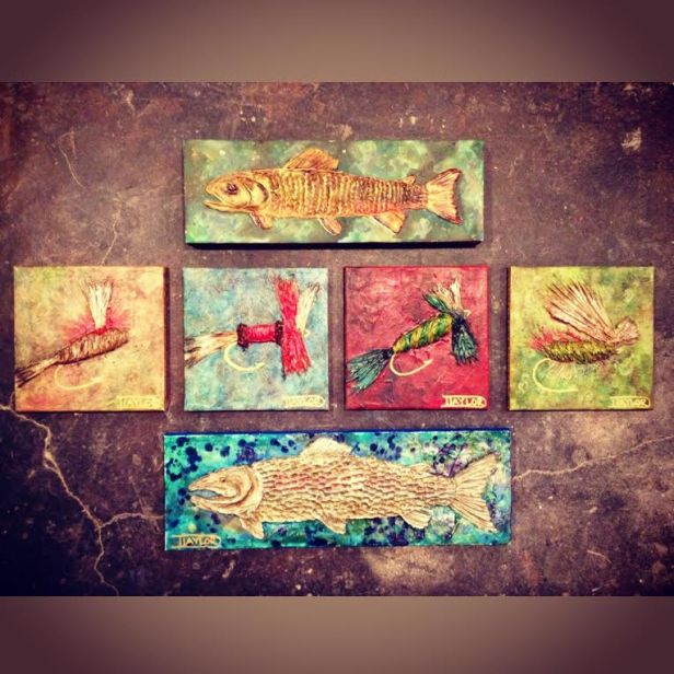 Mixed Media Paintings, Danielle Taylor, Local Color Studio