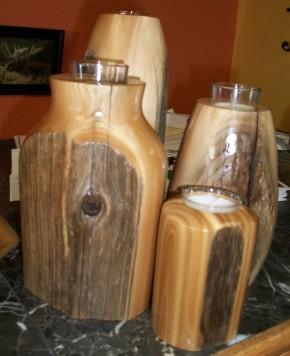Turned Wooden Vases, Ronald Bassett