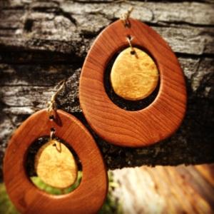 Wood Earrings by Robert Duchardt