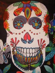 Dia de los Muertos student artwork