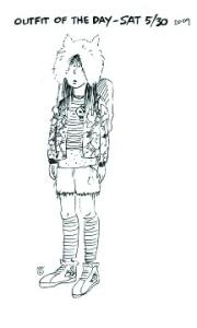 WF Fashion Collection - 1st Sketch by Nanci Williams