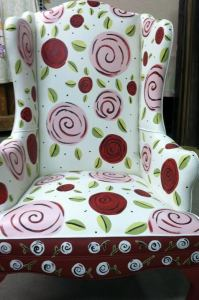 Painted Chair by Susan Miller